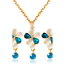 cheap Jewelry Sets-Women's Jewelry Set - Include Necklace / Earrings White / Blue For Wedding / Party / Daily / Casual