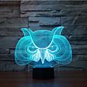 preiswerte Wanderstöcke-Eule Touch Dimmen 3d führte Nachtlicht 7colorful Dekoration Atmosphäre Lampe Neuheit Beleuchtung Licht