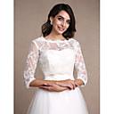 זול עליוניות לחתונה-תחרה חתונה / מסיבה / ערב כיסויי גוף לנשים עם תחרה בולרו