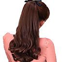 preiswerte Haarteil-Mikroring Haar-Verlängerung Wellen Synthetische Haare Haarstück Haar-Verlängerung Natürlich Schwarz Dunkelbraun Rotblond Medium Auburn
