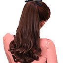 billige Hårstykker-Hairextension med mikroringer Bølget Syntetisk hår Hårdel Hår extension Svart Mørkebrun Jordebær Blond Medium Rødbrun Mørk Kastanjebrun