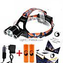 رخيصةأون المصابيح اليدوية وفوانيس الإضاءة للتخييم-U'King ZQ-X823 مصابيح أمامية LED 4500 lm 4.0 مع البطاريات والشواحن حجم مصغر Camping / Hiking / Caving
