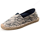 cheap Men's Slip-ons & Loafers-Unisex Espadrilles Canvas Spring / Summer / Fall Espadrilles Loafers & Slip-Ons Black / Red
