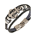 cheap Men's Bracelets-Men's Wrap Bracelet / Leather Bracelet - Leather Anchor Personalized, Basic, Punk Bracelet Black / Brown For Daily / Casual / Sports