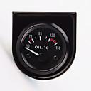 """abordables Piezas de Moto y Quad-2 """"calibrador del temp temperatura del aceite puntero del coche universal de 52mm 12v 40-120 llevado blanco"""