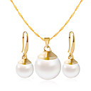 cheap Earrings-Women's Jewelry Set - Include Necklace / Bracelet Gold / White For Wedding / Party / Daily / Casual