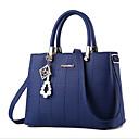 cheap Totes-Women's Bags PU(Polyurethane) Tote Zipper Black / Red / Blue
