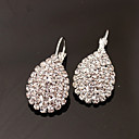 preiswerte Ohrringe-Damen Ohrstecker Tropfen-Ohrringe Strass Diamantimitate Ohrringe Tropfen damas Luxus Modisch Schmuck Silber Für Hochzeit Party Alltag Maskerade Verlobungsfeier Abiball