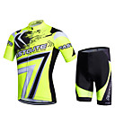 cheap Primer-Fastcute Men's / Women's Short Sleeve Cycling Jersey with Shorts Geometic Bike Shorts / Pants / Trousers / Jersey, 3D Pad, Quick Dry, Breathable, Sweat-wicking Polyester, Lycra Geometic / Stretchy