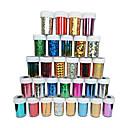 baratos Papel Alumínio para Unhas-1PC Autocolantes de Unhas 3D arte de unha Manicure e pedicure Glitters / Clássico / Glitter & Sparkle Diário / Etiquetas de unhas 3D