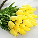 cheap Artificial Plants-Artificial Flowers 1 Branch Pastoral Style Tulips Tabletop Flower