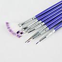 abordables Pinceles para Uñas-7 PC / sistema de cepillo de uñas de arte establece con la moda cepillo de mango de color púrpura para la pintura de uñas
