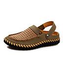 hesapli Çanak Lavabolar-Erkek Ayakkabı Tüylü Yaz Sandaletler Yürüyüş Günlük için Kahverengi / Haki