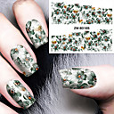 cheap Full Nail Stickers-1 pcs Classic Water Transfer Sticker Nail Art Design Daily