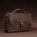 preiswerte Reisetaschen-Herrn Taschen Leder Schultertasche Reißverschluss Kaffee