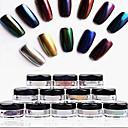 abordables Estampados para Uñas-12pcs Brillante arte de uñas Manicura pedicura Glitters / Clásico / Moderno Diario