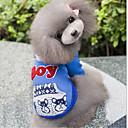 voordelige Hondenkleding-Hond Hoodies Hondenkleding Effen / Letter & Nummer Grijs / Blauw Katoen Kostuum Voor huisdieren Heren / Dames Casual / Dagelijks