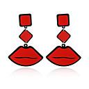رخيصةأون الحلقان-للمرأة - مطلية بالذهب مخصص, موضة أحمر من أجل حزب