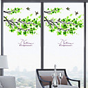 cheap Window Film & Stickers-Trees/Leaves Contemporary Window Film, PVC/Vinyl Material Window Decoration Dining Room Bedroom Office Kids Room Living Room Bath Room