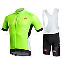cheap Temporary Tattoos-Fastcute Men's Women's Short Sleeves Cycling Jersey with Bib Shorts - Black Bike Bib Shorts Bib Tights Jersey Clothing Suits, Quick Dry,