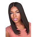 billige Syntetiske parykker uten hette-Syntetiske parykker Rett Bobfrisyre Syntetisk hår Midtskill Svart Parykk Dame Medium Lengde Svart