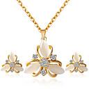 tanie Zestawy biżuterii-Damskie Biżuteria Ustaw - Zawierać Zestawy biżuterii ślubnej Złoty Na Ślub Impreza