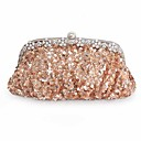 cheap Clutches & Evening Bags-Women's Bags Other Leather Type Evening Bag Sequin Red / Wine / Champagne