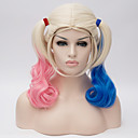 cheap Synthetic Lace Wigs-suicide squad harleen quinzel harley quinn gradient cos wig Halloween