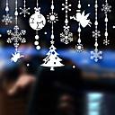 お買い得  クリスマスデコレーション-ウィンドウフィルム&ステッカー 装飾 コンテンポラリー アールデコ調 PVC / ビニール ウインドウステッカー