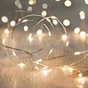 preiswerte Vollständige Nagel Aufkleber-10m Leuchtgirlanden 100 LEDs LED Diode RGB / Weiß Wasserfest 220 V / IP44