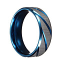 cheap Men's Rings-Men's Band Ring - Titanium Steel Personalized, Vintage, Punk 6 / 7 / 9 / 10 / 11 Blue For Christmas Gifts Wedding Party