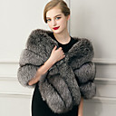 cheap Wedding Wraps-Sleeveless Faux Fur Wedding / Party Evening / Casual Women's Wrap With Feathers / Fur Capelets