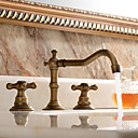 cheap Bathroom Sink Faucets-Bathroom Sink Faucet - Widespread Antique Copper Widespread Two Handles Three HolesBath Taps