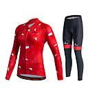 cheap Cycling Jersey & Shorts / Pants Sets-Miloto Women's Long Sleeve Cycling Jersey with Tights - Black Plus Size Bike Jersey Tights Clothing Suit Breathable 3D Pad Quick Dry Sweat-wicking Sports Polyester Lycra Geometry Mountain Bike MTB