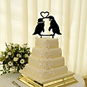 זול קישוטים לעוגה-קישוטים לעוגה נושא קלאסי זוג קלסי אקרילי חתונה עם פרח 1 קופסאת מתנה