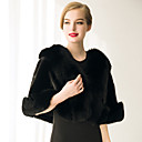 cheap Fans & Parasols-Sleeveless Faux Fur Wedding / Party Evening / Casual Women's Wrap With Feathers / Fur Capelets