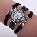 cheap Earrings-Women's Quartz Wrist Watch / Bracelet Watch Imitation Diamond PU Band Sparkle / Vintage / Casual / Bohemian / Fashion Black / White /