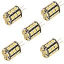 abordables Luces LED de 2 Pin-YouOKLight 5pcs 3000/6000lm G4 Luces LED de Doble Pin T 27 Cuentas LED SMD 5050 Decorativa Blanco Cálido Blanco Fresco 12V