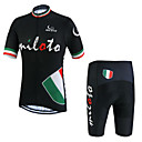 cheap Cycling Jersey & Shorts / Pants Sets-Miloto Men's Short Sleeve Cycling Jersey with Shorts - Black Bike Shorts Jersey Clothing Suit Breathable Quick Dry Sweat-wicking Sports Polyester Lycra Sports Mountain Bike MTB Road Bike Cycling