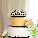 זול אפייה-קישוטים לעוגה נושא קלאסי זוג קלסי אקרילי חתונה עם פרח 1 קופסאת מתנה