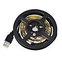 olcso Fából készült építőjátékok-1m LED-es szalagfények 60 LED 3528 SMD Fehér Cuttable / Vízálló / Gépjárműbe 5 V / IP65 / Öntapadós