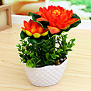 cheap Artificial Plants-Artificial Flowers 1 Branch Simple Style Lotus Tabletop Flower