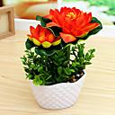 billige Kunstige planter-Kunstige blomster 1 Afdeling minimalistisk stil Lotus Bordblomst