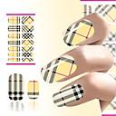 abordables Calcomanías de Agua para Manicura-1 pcs Etiqueta engomada de la transferencia arte de uñas Manicura pedicura Moda Diario
