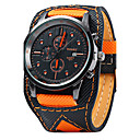 cheap Travel Bags & Hand Luggage-Men's Wrist Watch Quartz Calendar / date / day Cool / Leather Band Analog Casual Black / Orange - Orange Black / White One Year Battery Life / Stainless Steel / SSUO LR626