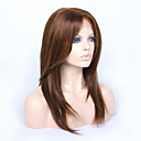 cheap Human Hair Wigs-Human Hair Glueless Lace Front / Lace Front Wig Straight / Yaki Wig 130% / 150% Natural Hairline / African American Wig / 100% Hand Tied Women's Medium Length / Long Human Hair Lace Wig