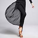 رخيصةأون ملابس رقص لاتيني-الرقص اللاتيني بنطلونات وفساتين للمرأة التدريب شيفون / ألياف الحليب فتحة أمامية بدون كم ارتفاع متوسط بنطلونات