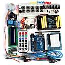 preiswerte Sets-Funduino erweiterte Starter-Kit lcd Servomotor Punktmatrix-Steckbrett geführt Grundelement Pack kompatibel für Arduino