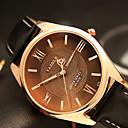 abordables Relojes de Hombre-YAZOLE Hombre Reloj de Pulsera Cuarzo Reloj Casual Cool / PU Banda Analógico Casual Moda Negro / Marrón - Negro Marrón