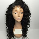 billige Kostymeparykk-Ekte hår Helblonde Parykk Kinky Curly Parykk Naturlig hårlinje / Afroamerikansk parykk / 100 % håndknyttet Dame Kort / Medium Blondeparykker med menneskehår / Kinky Krøllet